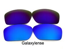 Galaxy Replacement Lenses For Oakley Scalpel Sunglasses Blue&Purple Polarized