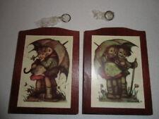 Rare Pair Hummel Plaques Wooden Blue Bonnet Offer Original Boxes Wall Hangings
