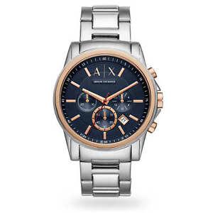 NEW MENS ARMANI EXCHANGE AX BLUE GOLD CHRONO BLUE WATCH - AX2516 - RRP £199