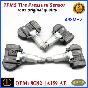 4Pcs 8G92-1A159-AE TIRE PRESSURE SENSOR TPMS For Volvo Peugeot Citroen 433MHz