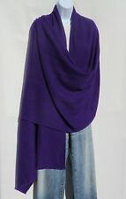 100% Cashmere|Shawl|4 Ply|Hand Loomed|Nepal|Wide Herringbone|Dark Purple