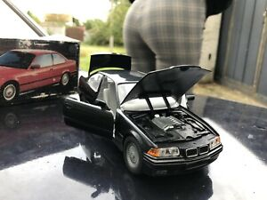 1/24 BMW E36 325i Coupe Black Gama diecast model car gift collection Bbs