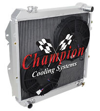 """3 Row Perf Champion Radiator W/ 2 10"""" Fans for 1988 - 1995 Toyota Pickup V6 Eng"""