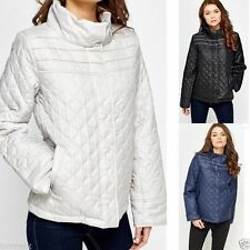 Waist Length Button Quilted Coats & Jackets for Women
