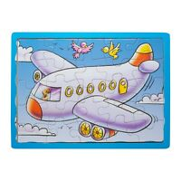 Eliiti Wooden Airplane Jigsaw Puzzle for Kids 3 to 5 Years Old Boys Toy