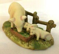 Mother Pig and Piglets Figurine E-3970  Enesco