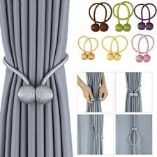 Magnetic Curtain Buckle Tieback Ball Holder Clip Tie Back Home Window Accessory