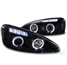 04-08 PONTIAC GRAND PRIX DUAL HALO LED PROJECTOR HEADLIGHTS LAMP BLACK 05 06 07