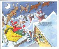 Sierra Leone 1990 Disney/Christmas/Goofy/Santa/Sleigh/Cartoons 1v m/s (b4762ma)
