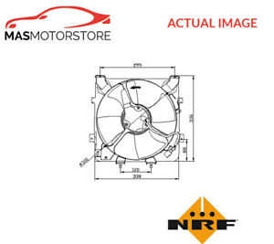 ENGINE COOLING RADIATOR FAN NRF 47041 P NEW OE REPLACEMENT