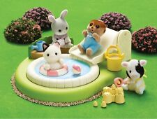 Calico Critters Baby Play Series BABY POOL AND SANDBOX w Bench & Slide ~NEW~