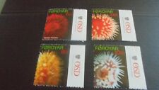 FAROE ISLANDS 2012 655-658 SEA ANEMONES  MNH