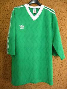 Maillot Adidas vintage vert 90'S Jersey Football Trefoil Shirt soccer - L