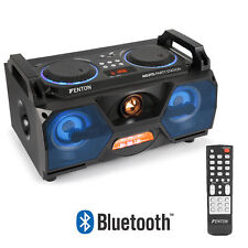 Portable Stereo Boombox Bluetooth Speaker USB Built-In LED Lights & Remote 120w