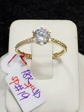 SOLID 18K Saudi Gold Engagement Ring - Size 7 /  1.9g