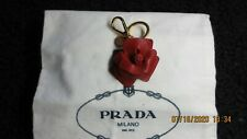 PRADA WOMEN'S RED SAFFIANO LEATHER KEYCHAIN,CHARM