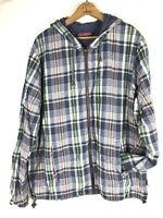 Vineyard Vines Shep & Ian Sweatshirt Hoodie Jacket Mens XL Madras Plaid RARE cu