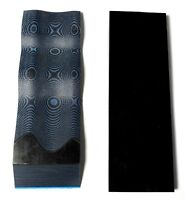 G10 1/4 .250 6x2 BLACK / BLUE LAYERED KNIFE HANDLE MATERIAL SCALES 2 Pcs