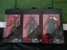 Star Wars Black Series First Order General Hux Tie Fighter Pilot Finn Jakku