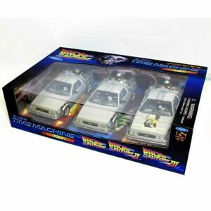 Welly 1:24 WL224003 BTTF Back To The Future Delorean 1, 2, 3 Movie Trilogy Set