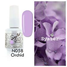 SYSTER 15ml Nail Art Soak Off Color UV Lamp Gel Polish N058 - Orchid