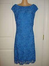 Lauren Ralph Lauren Cap Sleeve Lace Cocktail Sheath Dress Sz 14 Retail $180