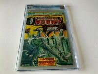 SUPERNATURAL THRILLERS 9 CGC 9.4 WHITE PAGES LIVING MUMMY MARVEL COMICS 1974
