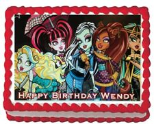 Monster High Edible Birthday Cake Topper Image Icing Sheet Decoration Party