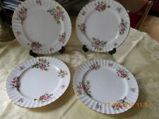"VINTAGE ROYAL WORCESTER 4 DINNER PLATES ""ROANOKE"" No: Z 22827 10"" Dia"