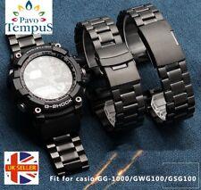 Montre bracelet pour Fit Casio G Shock mudmaster GG1000 GWG100 & GSG100, ST acier
