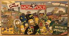 The Simpsons Monopoly Board Game Welcome To Springfield