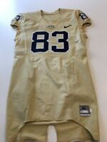 Game Worn Used Pittsburgh Panthers Pitt Football Jersey Nike Size 42 83 H Graham
