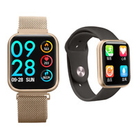 Smartwatch P80 Pulsuhr Magnetverschluss IPS Display IP68 Wasserdicht iOS Android