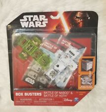Star Wars Box Busters Battle of Naboo and Battle of Hoth Play Set by Spinmaster
