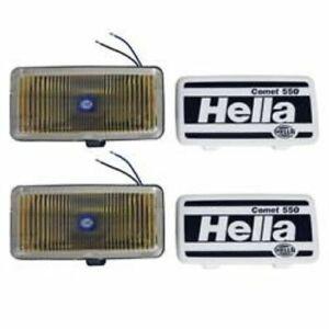 Hella 005700681 55 Watts Rectangular Fog Light - Amber Lens; Black Housing NEW
