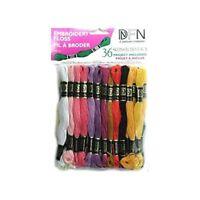 Janlynn 204920 Cotton Embroidery Floss Pack 8.7 Yards 36-pkg-pastel Colors -