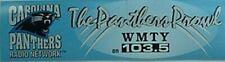 1990s CAROLINA PANTHERS BUMPER STICKER (WMTY, GREENWOOD, SC
