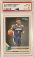 2019-20 Panini Donruss Zion Williamson Rated Rookie RC #201 Base ~ PSA&10