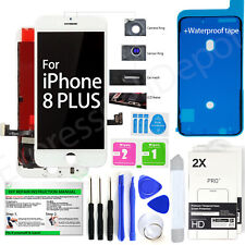 LCD Display Touch Screen Replacement Kit for White iPhone 8 Plus + 2 protectors