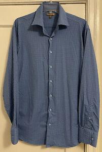 Peter Millar Summer Comfort Gingham Plaid Stretch L/S Button Down Shirt Men Sz L