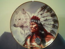 "Franklin Mint ""Spirit Of The White Wolf"" Plate # Hk 4244 Limited Edition"