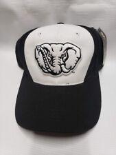 Alabama Crimson Tide Hat Cap Black White Elephant Adjustable NCAA NEW