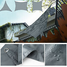 Heavy Duty Waterproof Proof Sun Shade Sail Awning Cloth Grey Triangle Square