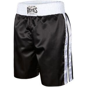 Cleto Reyes Satin Classic Boxing Trunks - Black/White