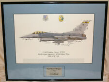 Signed Squadron Print-466th Fighter Squadron/419th Fighter Wing - Hill AFB Utah