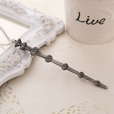 New Harry Potter Elder Wand Dumbledore Magical Wand Necklace Pendant Cosplay