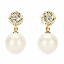 Kate Spade Crystal & White Pearl Drop Earrings free shipping
