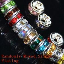 100pcs Swarovski Czech Crystal Rhinestone Rondelle Spacer Beads 4,5,6,8,10mm