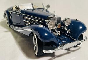 1/24 CMC 1936 Mercedes-Benz 500K Spezial Roadster, Blue, MIB, Gorgeous!!