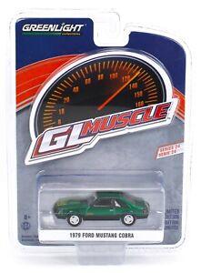 1:64 GreenLight *GL MUSCLE 24* GREEN MACHINE 1979 Ford Mustang COBRA *NIP*